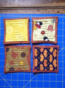 Japanese fabric coasters