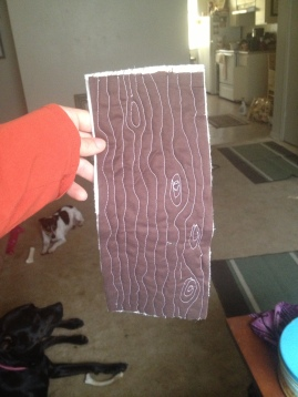 Wood grain quilting