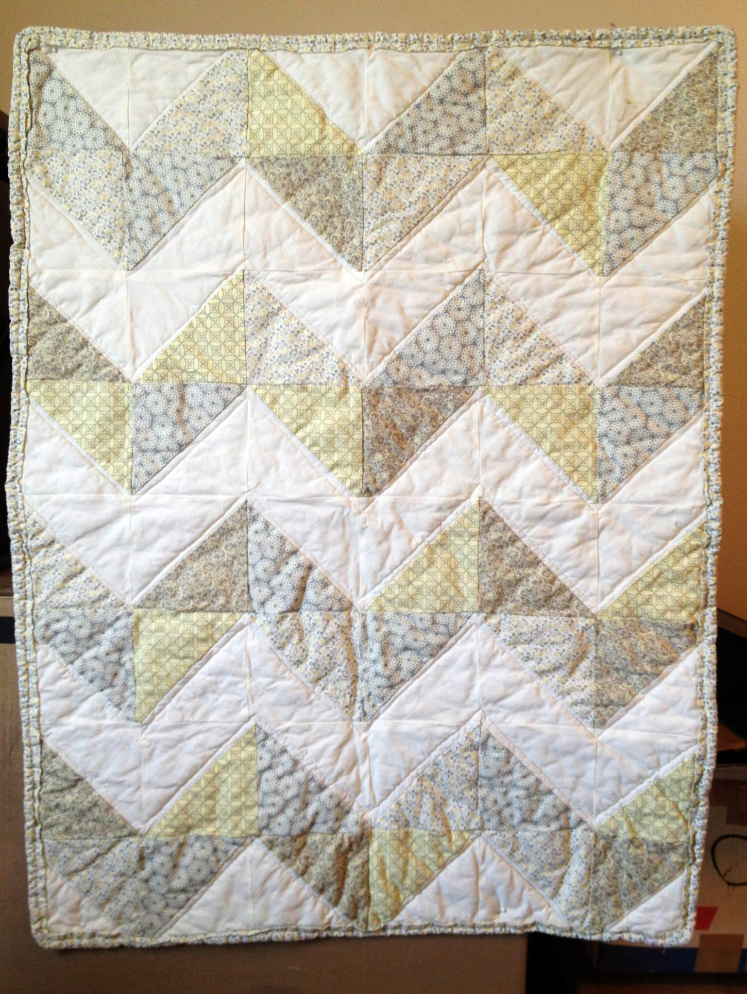 Chevron gray and yellow baby quilt | Sweet Marie's Sewing Room : yellow and gray baby quilt - Adamdwight.com