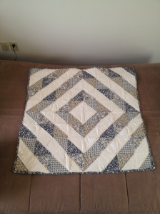 quilt of navy and yellow